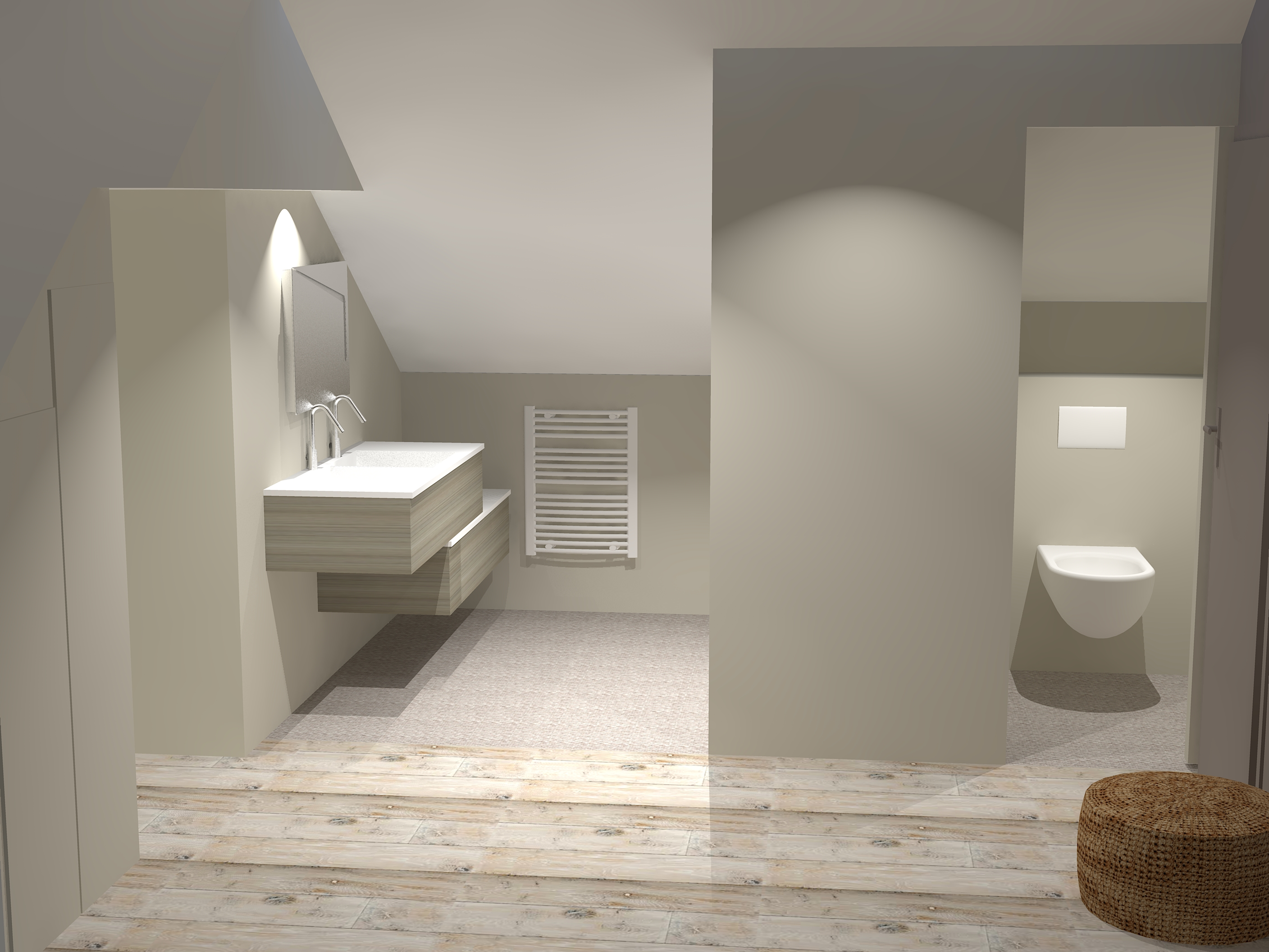 Des combles r habilit s en suite parentale caroline for Amenagement garage en suite parentale