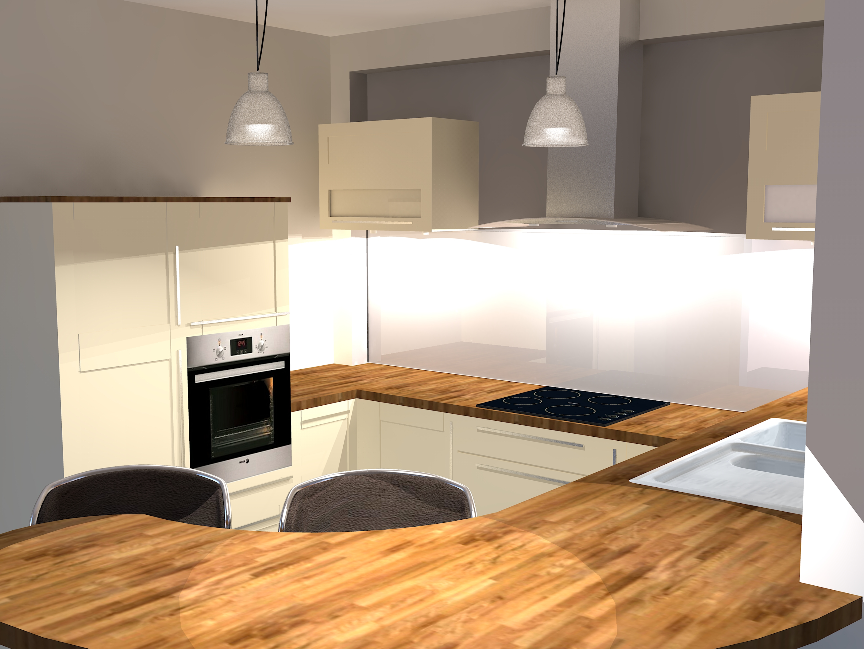 Un espace vivre harmonieux caroline fabreguette for Mur de cuisine couleur taupe