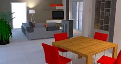 Recherche esthétique incluant le choix du mobilier, des couleurs et des textures