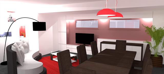 Une pièce à vivre élégante et bien structurée