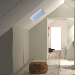 Architecture int rieure caroline fabreguette for Suite parentale sous pente
