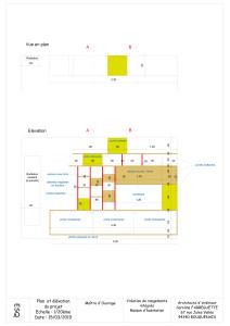 Plan et élévation du projet