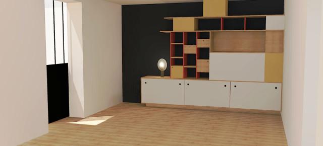 Création d'un meuble multi-fonction